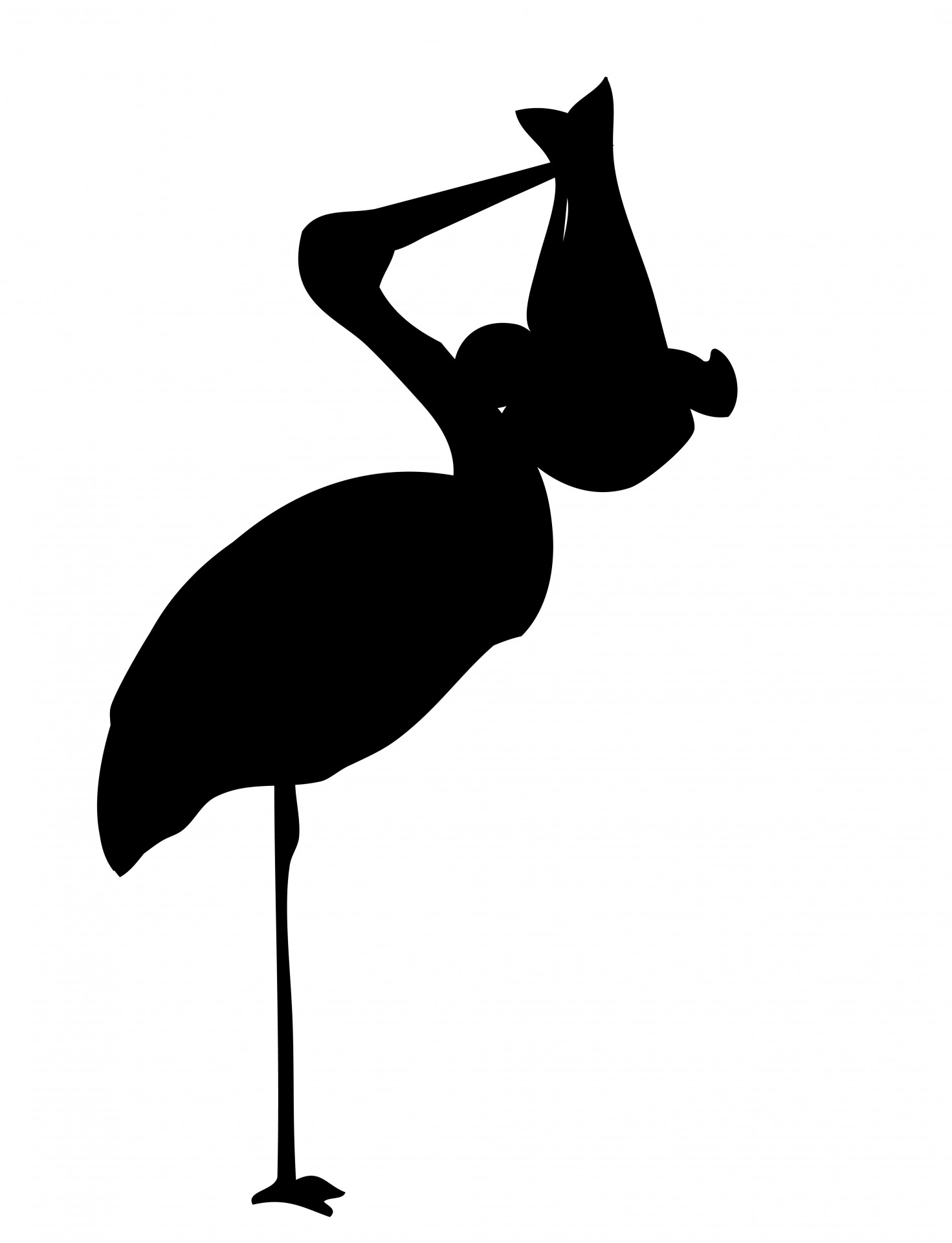 1471x1920 Stork With Baby Silhouette Free Stock Photo