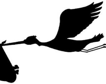 340x270 Stork Sticker Etsy