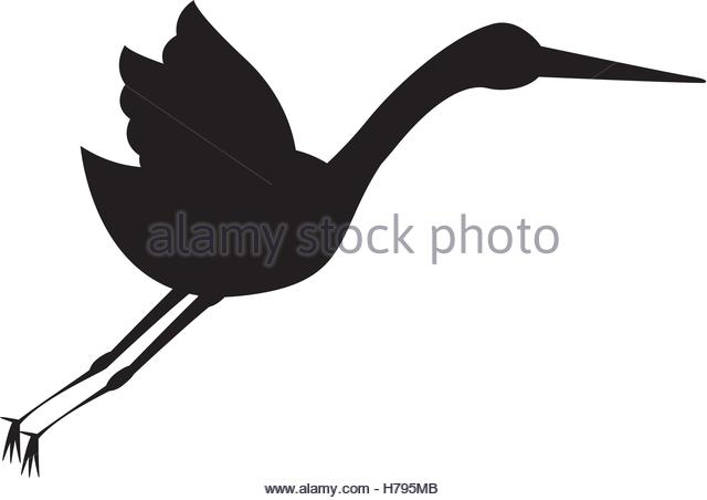 640x452 Stork Bird Icon Design Graphic Stock Photos Amp Stork Bird Icon