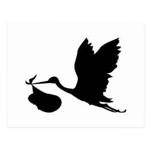 307x307 Stork Silhouette Postcards Zazzle