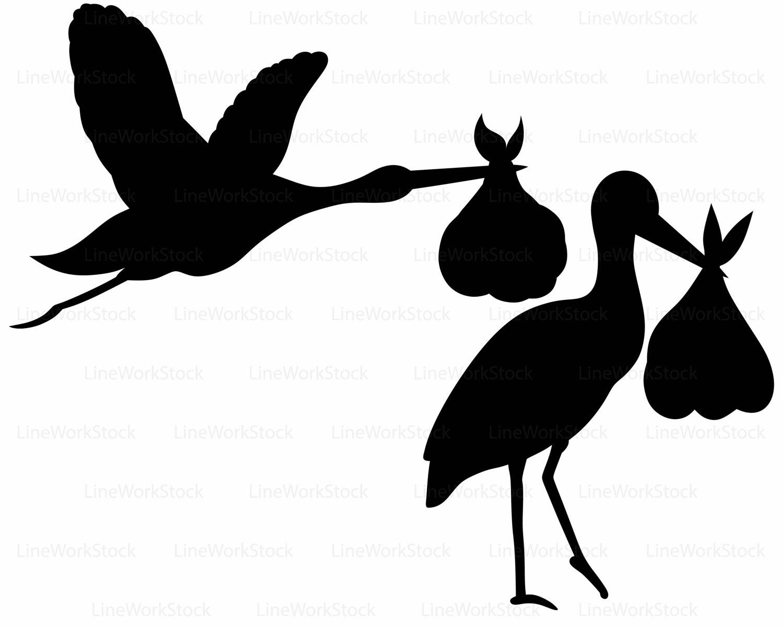 1500x1200 Stork Baby Shower Svgstork Baby Clipartstork Svgstork Baby