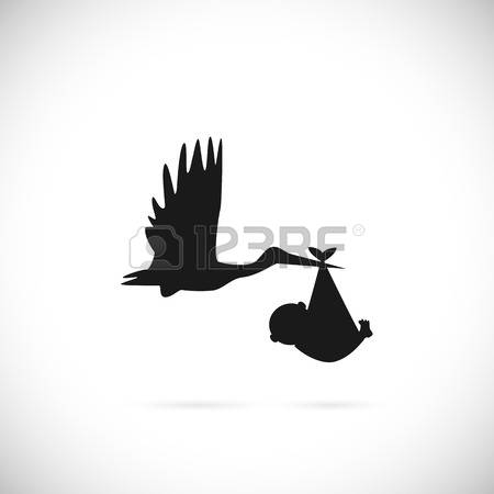 450x450 Stork Clipart Baby Silhouette