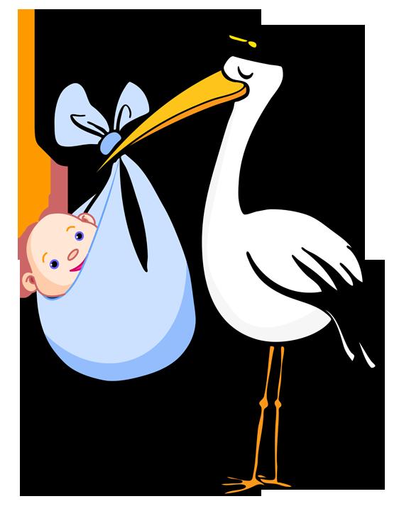 562x720 Blue Clipart Stork