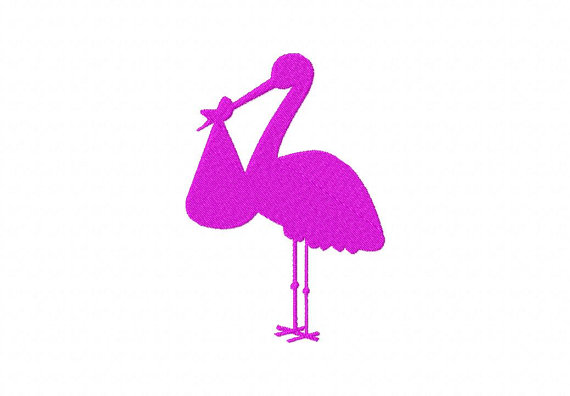 570x396 Instant Download Stork Silhouette Machine Embroidery Design