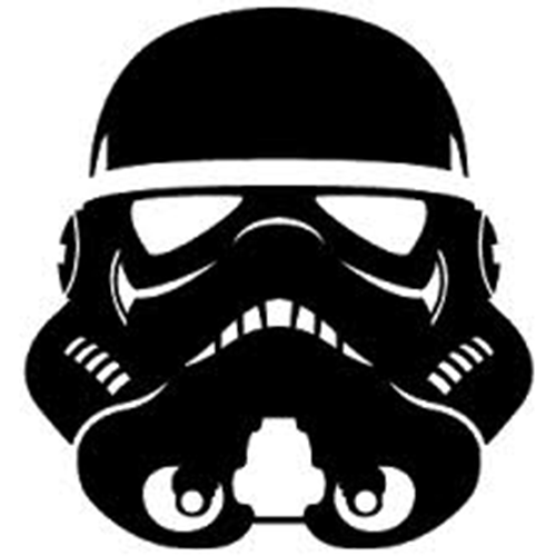 500x500 Star Wars Stormtrooper Die Cut Vinyl Decal Pv775 Vehicle, Smooth