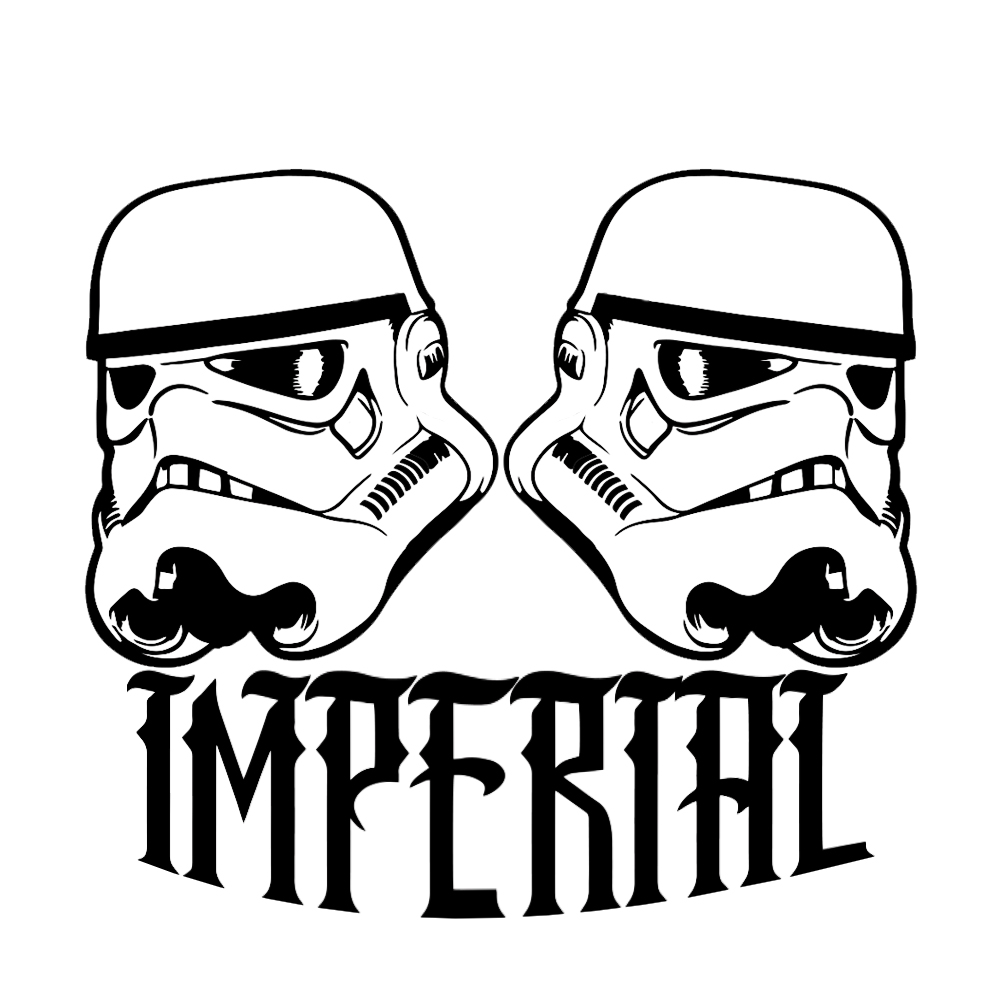 1002x1002 Stormtrooper Helmets Silhouette Vinyl Sticker Car Decal