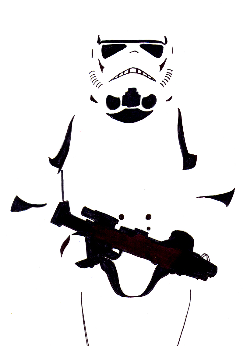 photograph regarding Stormtrooper Stencil Printable named Stormtrooper Silhouette at  No cost for
