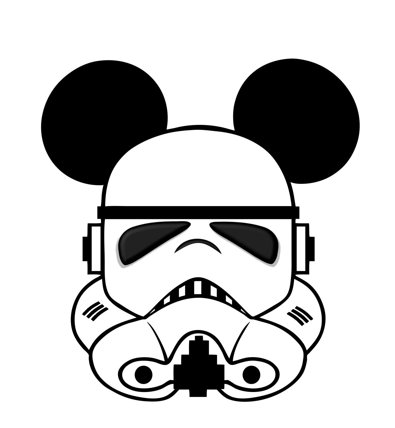 1340x1450 Star Wars Mickey Head Template Disney T Shirt