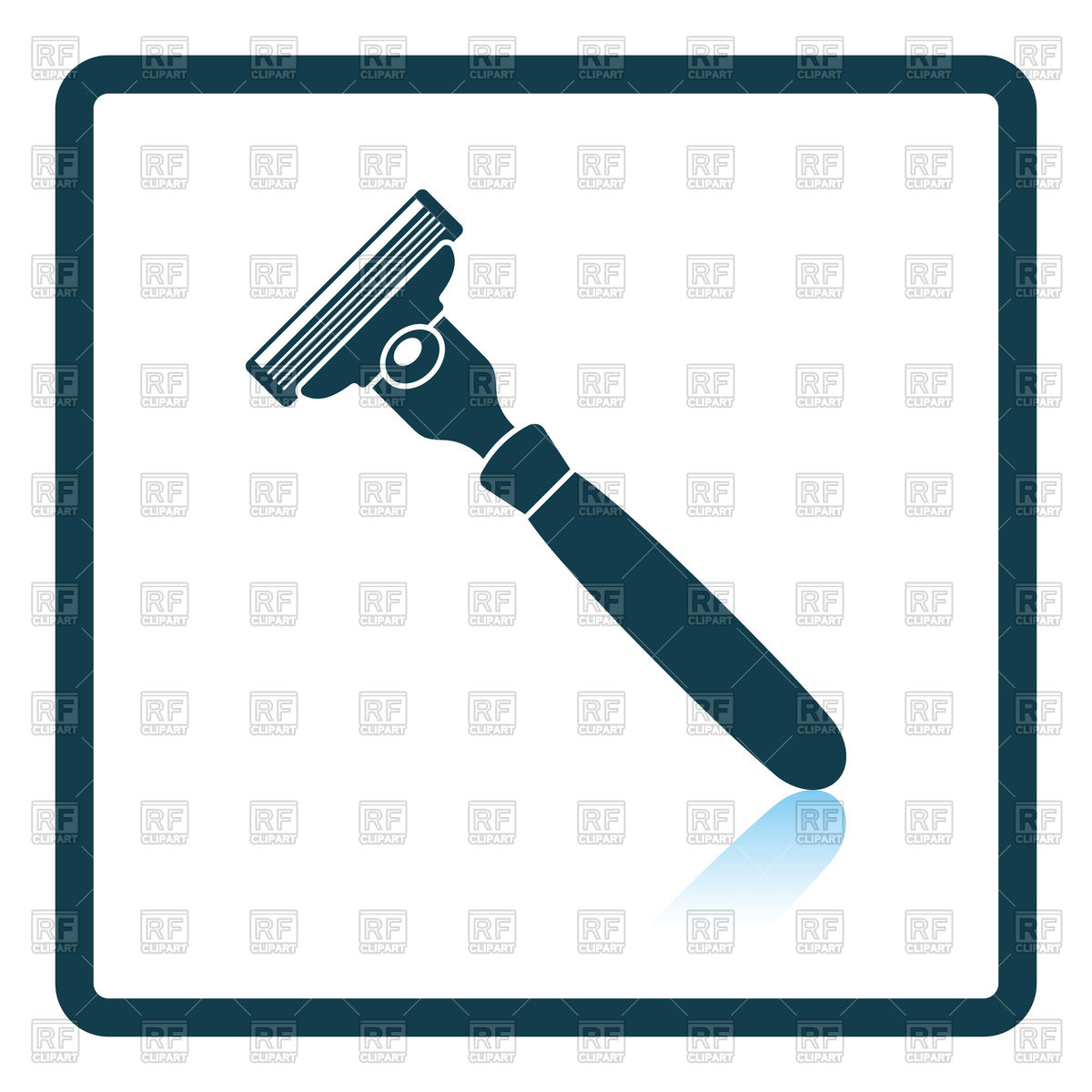 1200x1200 Icon Of Safety Razor On White Background Royalty Free Vector Clip