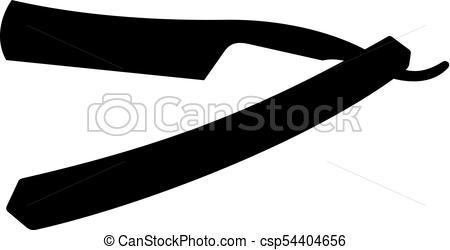 450x250 Straight Razor Icon Clipart Vector
