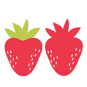 Strawberry Silhouette