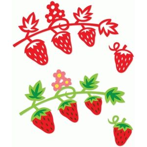 300x300 Luscious Strawberries Silhouette Design And Silhouette