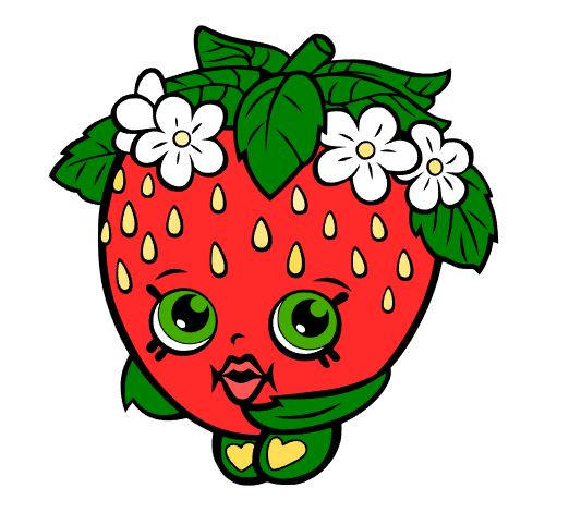 522x482 Strawberry Kiss Svg Shopkin Svg File Svg Cutting File Svg