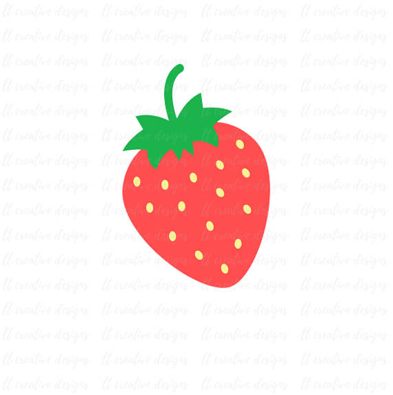 570x573 Strawberry Svg, Strawberry Clipart, Pineapple Cutting File, Summer