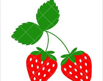 340x270 Strawberry Dxf Etsy