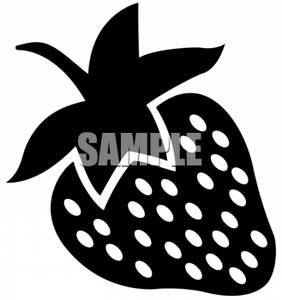 282x300 Clipart Of A Strawberry Silhouette Baby Style