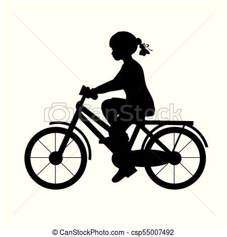 450x470 Girl Riding Bike Clipart Vector Graphics. 2,365 Girl Riding Bike