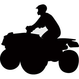 275x275 Attack Graphics Rider Silhouette Decals 4x4 Atv Dirt Bike