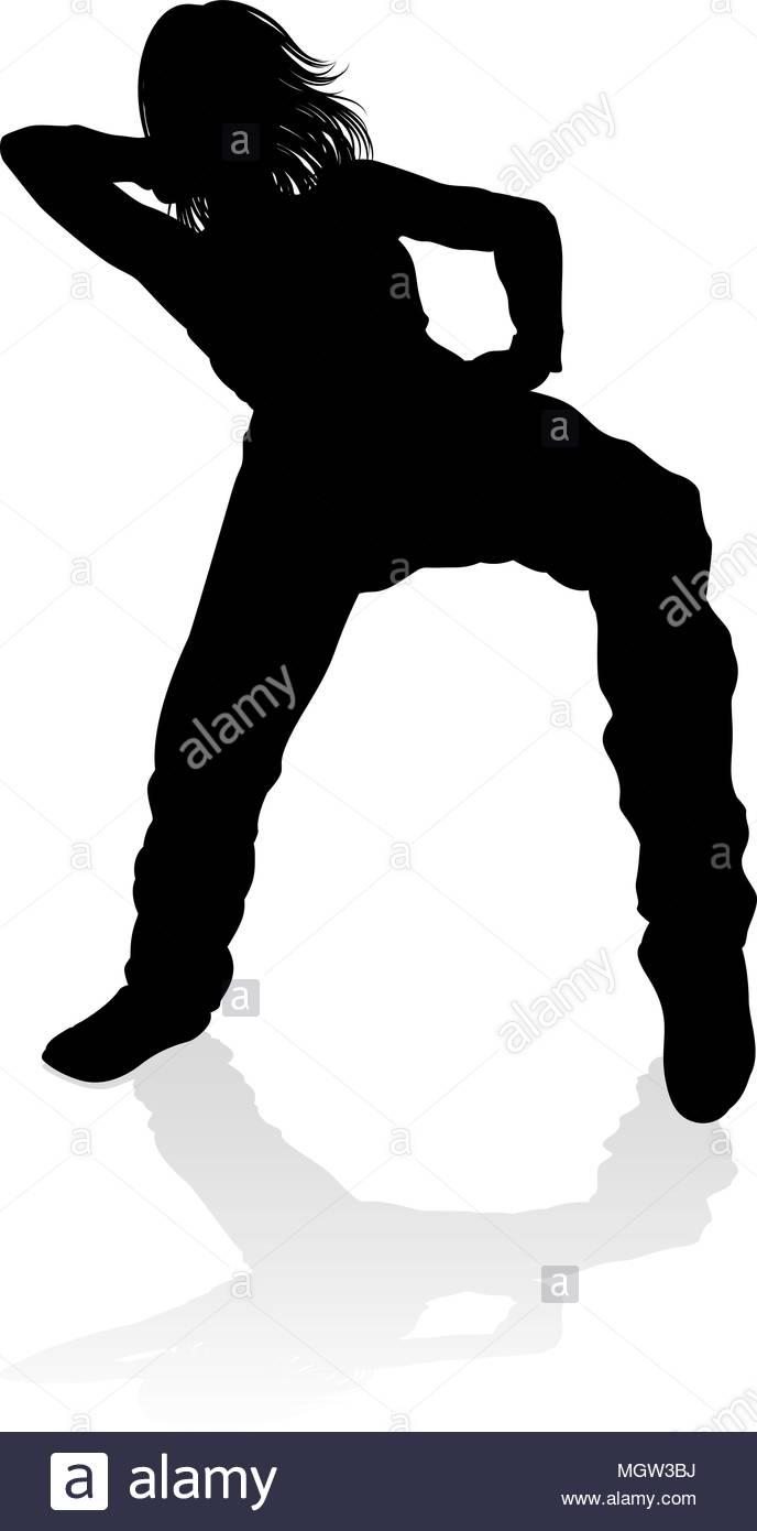 688x1390 Street Dance Dancer Silhouette Stock Vector Art Amp Illustration