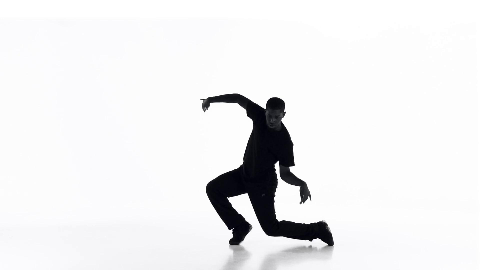 1920x1080 Street Dancing Silhouette 06 Stock Video Footage