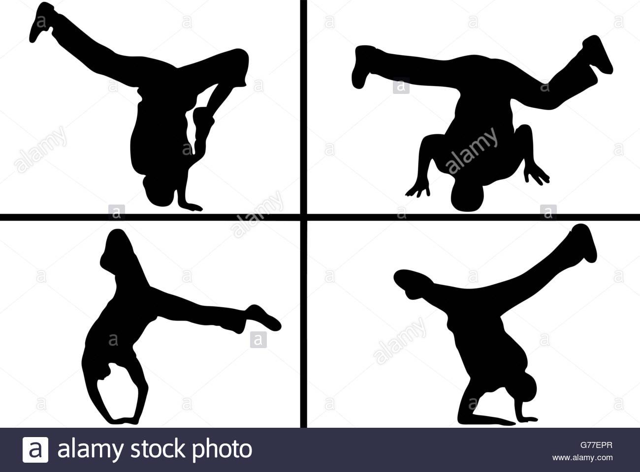 1300x960 Street Dancer Silhouette Stock Vector Art Amp Illustration, Vector