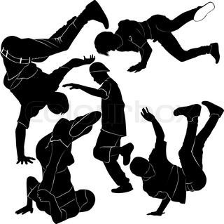 320x319 Breakdance Silhouette Break Dance Stock Vector Colourbox
