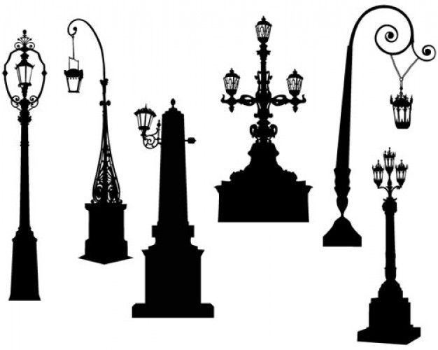 626x500 Clipart Silhouette Of Person On A Bench Near Street Lamp