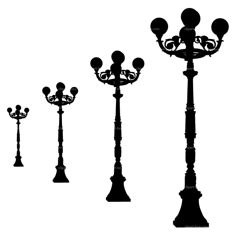 800x800 Lamp Post Clipart Silhouette 3659387