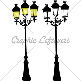 325x325 Retro Street Lamp And Lattern Gl Stock Images