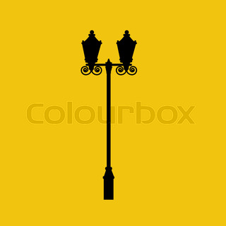320x320 Christmas Card Vintage Street Lamp On A Decorative Bracket