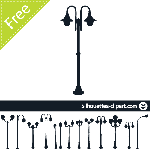 500x500 Street Lamp Vector Silhouette Silhouettes Street
