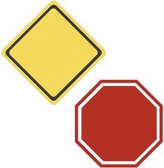 236x242 Editable Road Sign Templates (Sb8448)