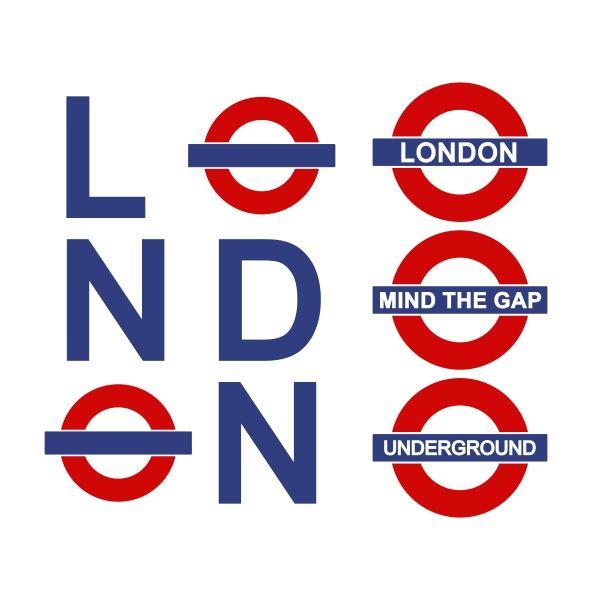 600x600 London Street Sign Cuttable Design Cut File. Vector, Clipart