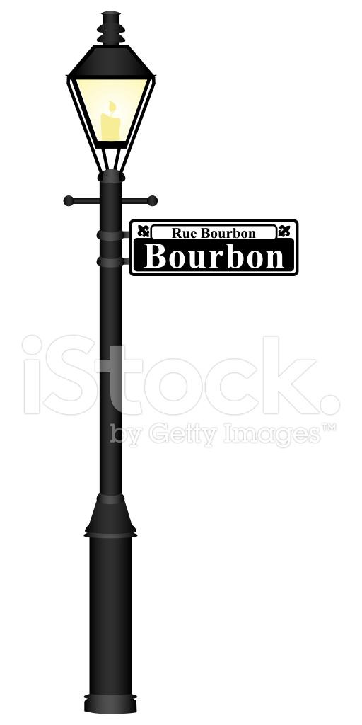 512x1024 Bourbon Street Sign Stock Vector