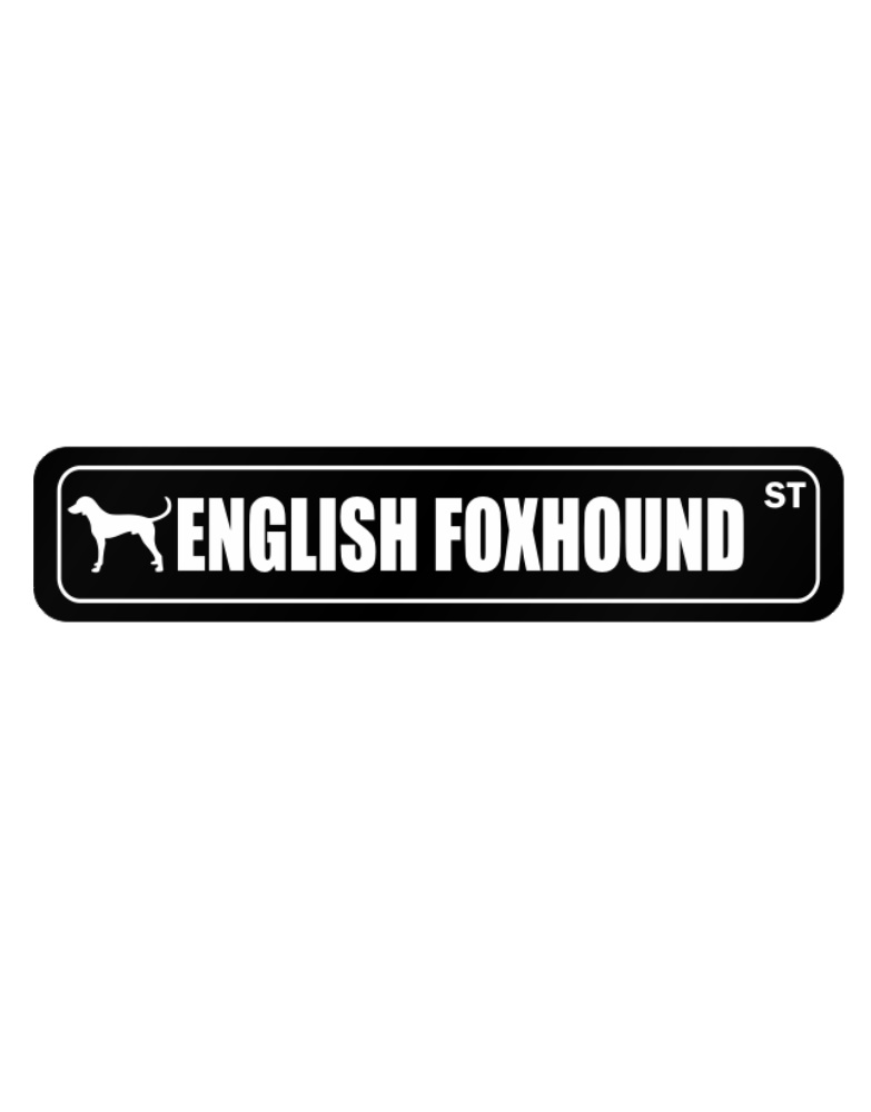 783x1000 English Foxhound Street Silhouette Street Sign