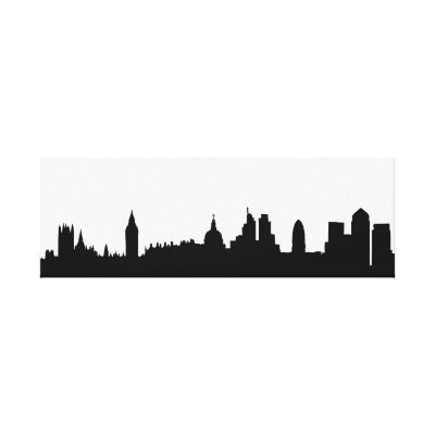 400x400 London Skyline Silhouette Cityscape Canvas Print London Skyline