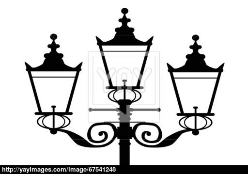 512x359 Street Lamp Silhouette Vector