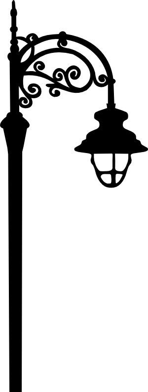 300x794 Flourish Street Lamp Svg Cricut, Silhouette And Stenciling