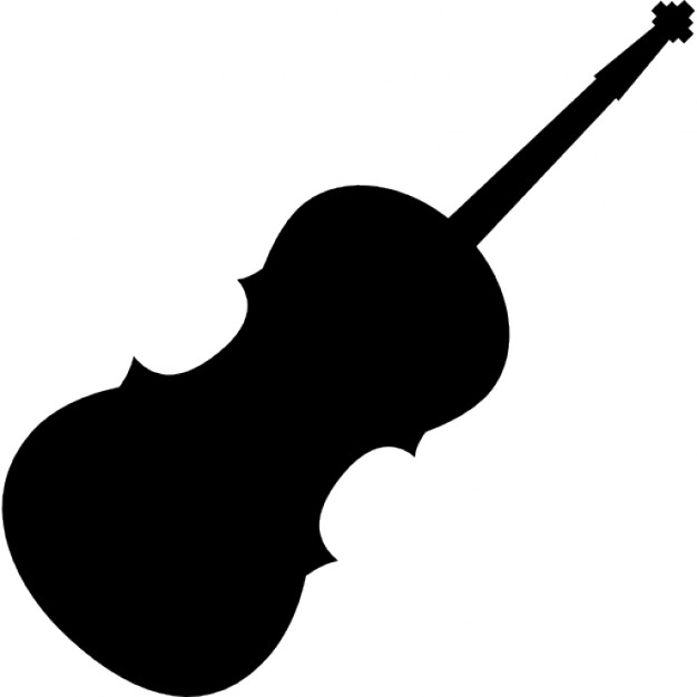 626x626 Violin Silhouette Icons Free Download