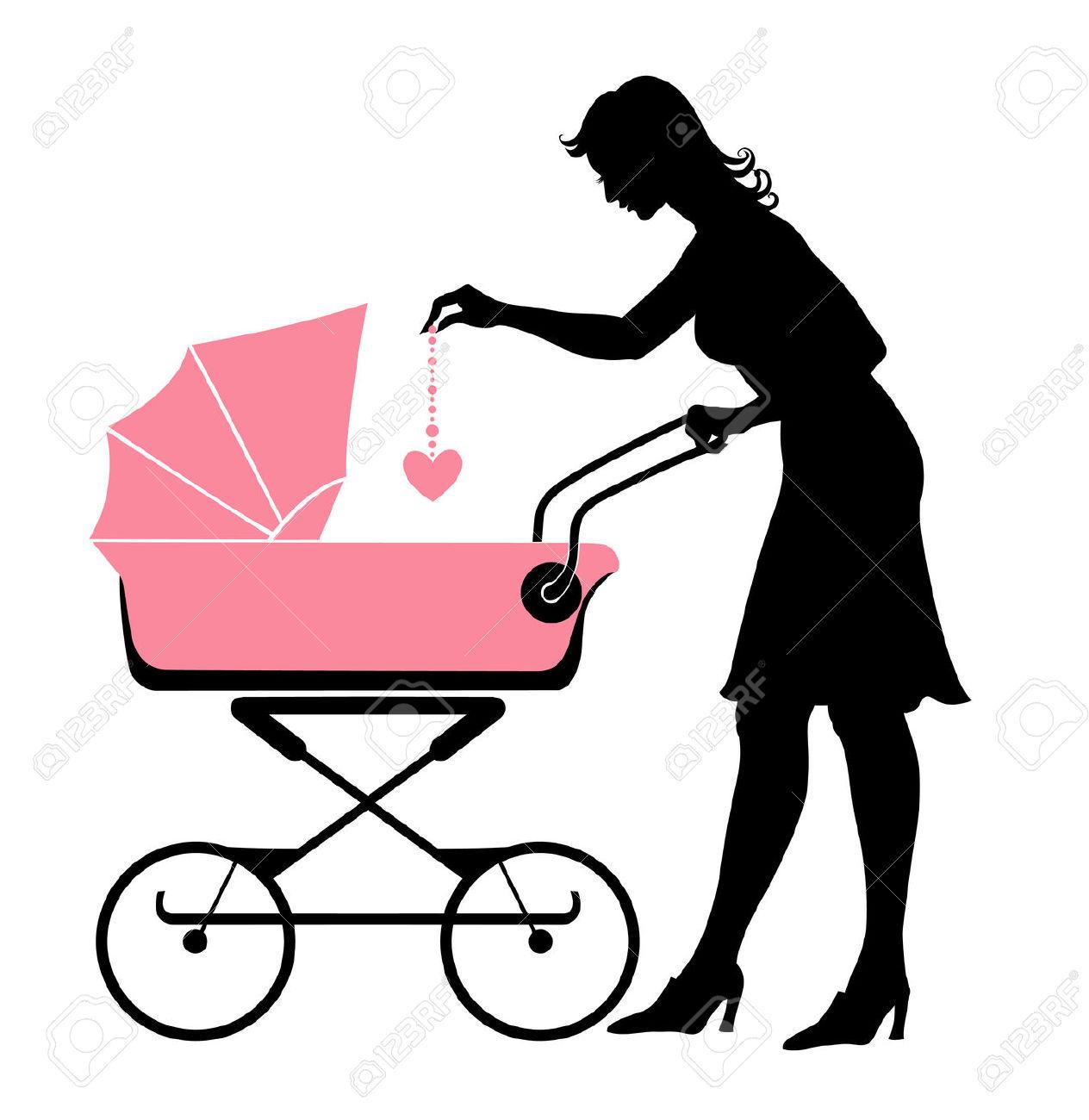1264x1300 Mommy Clipart Stroller