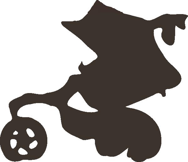 600x517 Stroller Silhouette Clip Art