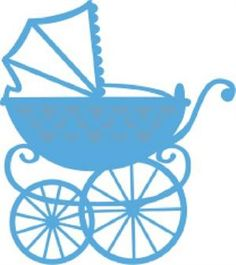 236x265 Blue Baby Carriage Clipart Silhouette