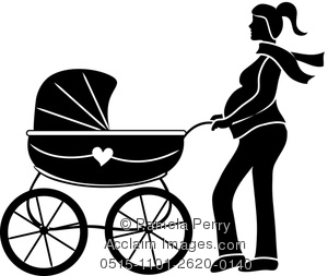 300x253rt Illustration Of Silhouette Of Pregnant Woman Pushing