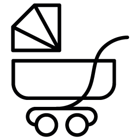 283x283 Baby Stroller Silhouette Silhouette Of Baby Stroller