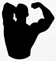 190x206 Strong Man Silhouette 1c  2012 By Funny Slogan T Shirts