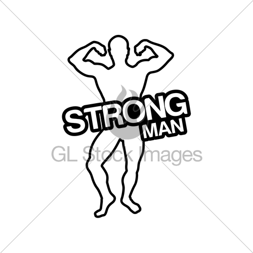 500x500 Strong Man Silhouette Gl Stock Images