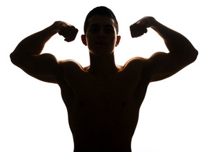 300x221 Strong Muscle Man Royalty Free Stock Image