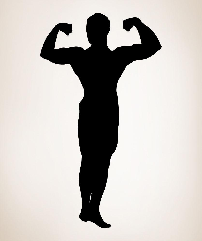 836x1000 Vinyl Wall Decal Sticker Strong Man Pose