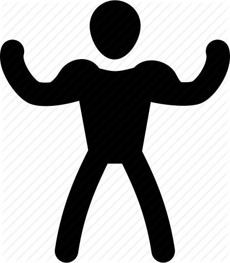 449x512 Athlete, Exercise, Man, Muscle, Silhouette, Strong Icon Icon