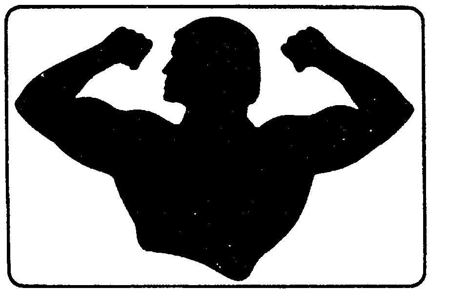 920x591 Muscular Man Flexing Silhouette Icons Free Download On Strong